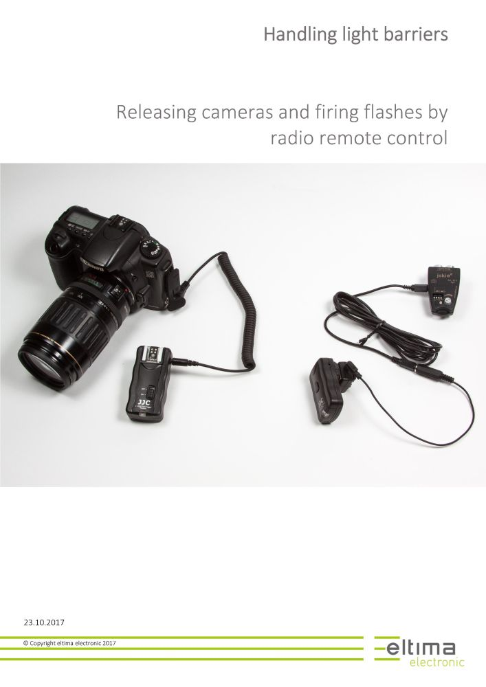 Releasing cameras and firing flashes by radio remote control
